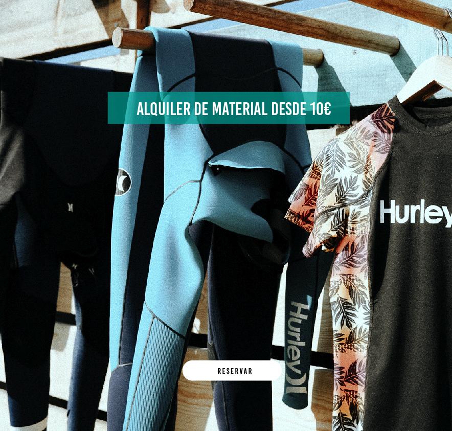 alquiler de trajes de surf conil y el palmar